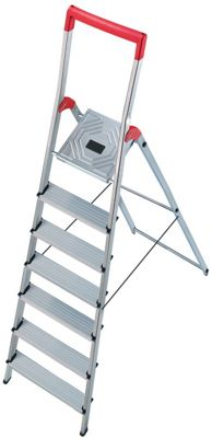 Hailo 325cm L50 Aluminium Safety Household Ladder with Red Fracture-Proof