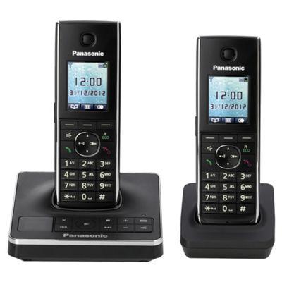 Panasonic KX-TG8562EB Twin Cordless Phone - Black