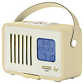 Kitsound Swing Digital FM Radio LCD Screen Cream