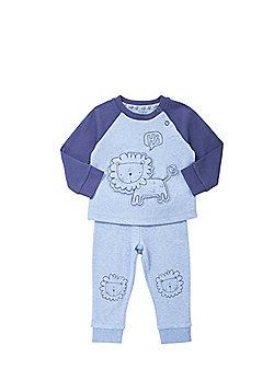 F&F Lion Applique Pyjamas - Blue