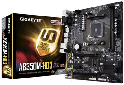 Gigabyte AB350M-HD3 AMD Socket AM4 Motherboard