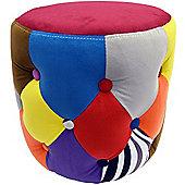 Soleil - Circular Drum Stool / Pouffe Seat - Multicoloured