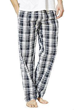 F&F Checked Woven Loungewear Pants - Blue