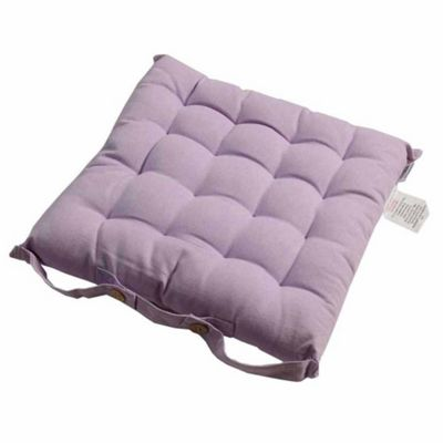 Homescapes Cotton Mauve Seat Pads with Ties