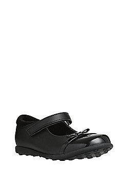 F&F Sensitive Sole Patent Toecap Mary Jane School Shoes - Black