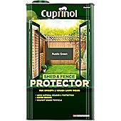Cuprinol Shed and Fence Protector - Rustic Green - 5 Litre