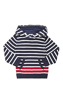 F&F Striped Knitted Hoodie - Multi