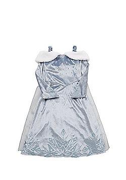 Disney Frozen Elsa Fancy Dress Costume with Cape - Blue