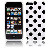 Polka Dot Case - iPhone 5 / iPhone 5S / iPhone SE - White with Black Dots