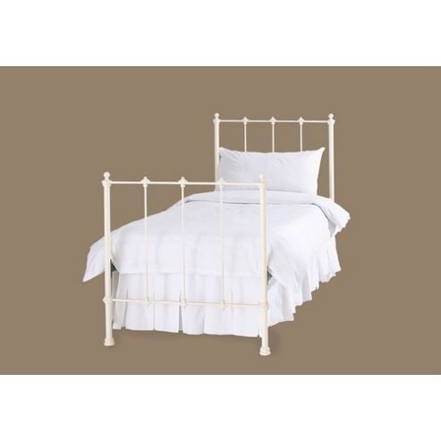 OBC Paris Bed Frame - Single - Glossy Ivory