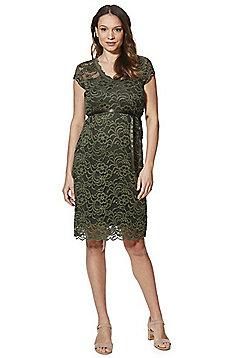 Mamalicious Lace Maternity Dress - Moss