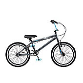 "Rooster Jammin 20"" Wheel 25/9 BMX Bike Grey / Blue"