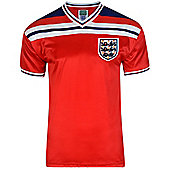 Score Draw England 1982 World Cup Finals Mens Away Football Shirt Red - L - Red