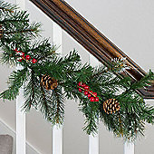 2.7m Christmas Garland with Pinecones & Berries