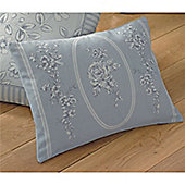 Dreams n Drapes Malton Boudoir Cushion Cover - Blue 38x28cm