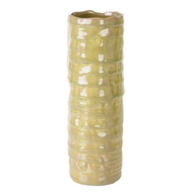 Bahne Vase Ceramic Light Green Textured 28x10cm