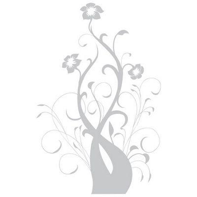 Baroque Flower No' 4 Wall Sticker, White