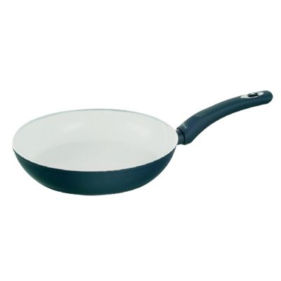Pyrex Ceramic Coated Frying Pan, Rapid Heat Distribution, Dishwasher Safe, 30cm (Blue)