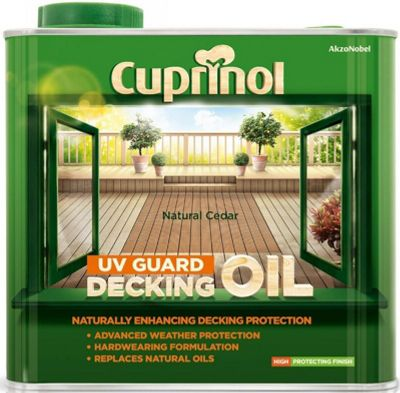 Cuprinol UV Guard Decking Oil - Natural Cedar - 2.5 Litre