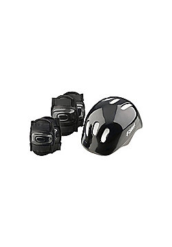 Riderz Kids Helmet & Pad set Black