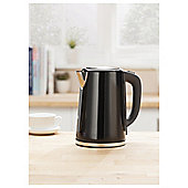Tesco JKSSB16 Black Stainless Steel Kettle New