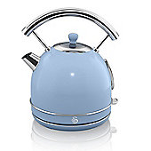 Swan Retro 1.7 Litre Dome Kettle - Blue