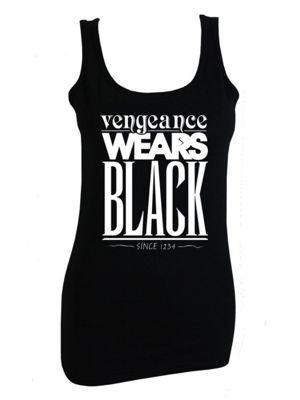 Vengeance Wears Women's Vest, Black.