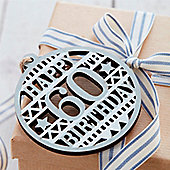 60th Birthday Wooden Tag