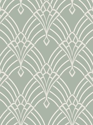 Astoria Deco Wallpaper Duck Egg And Silver Rasch 305333