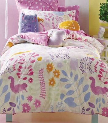 Friends Of The Forest Double Duvet - Hiccups, 100% Cotton