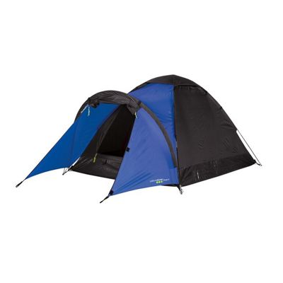 Yellowstone 2 Man Peak Dome Tent with Porch Blue