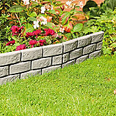 4 x Grey Instant Brick Effect Hammer In Garden Lawn Edging Plant Border
