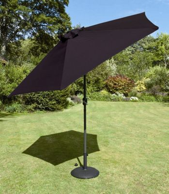 Europa Leisure Tuscany Parasol in Black - 300 cm
