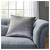 Fox & Ivy Silver Velvet Cushion