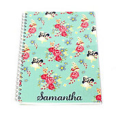 Disney Bambi Personalised Floral Notebook