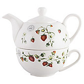 Kew Strawberry Fayre Tea for One Gift Set