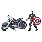 Marvel Legends Series Captain America Civil War Figure with Motorcycle