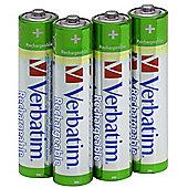 Verbatim AAA Premium Rechargeable Batteries