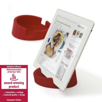 Bosign iPad or Tablet Heavyduty Stand in Red Silicon for Reading or Working Ø11.4xH4.5cm