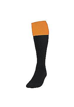 Precision Training Turnover Football Socks - Black & Yellow