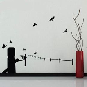 River Port Wall Sticker, Black