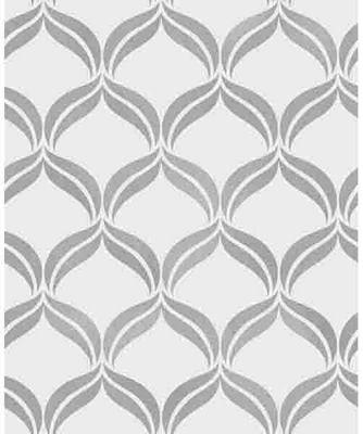 Wentworth Geo Grey & Silver Wallpaper