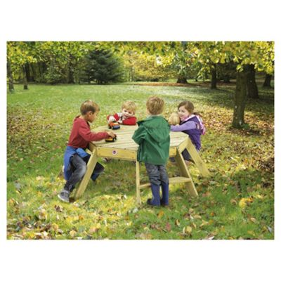 Plum Octagonal Wooden Activity Table
