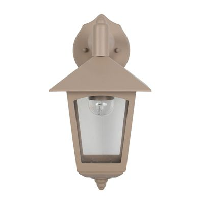 Taupe Hanging Lantern Outdoor Wall Light Classic Look