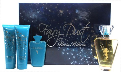 Paris Hilton Fairy Dust Gift Set 100ml EDP Spray + 90ml Shower Gel + 90ml Body Lotion + Mirror and case For Women