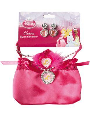 Disney Sleeping Beauty Bag & Jewellery Set