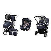 Obaby Chase Switch Pramette Travel System with Mosquito Net - Little Sailor