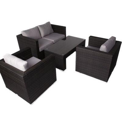 Denby 4 Seater Rattan Outdoor/ Garden Sofa Set
