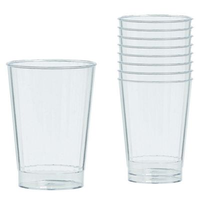 Clear Plastic Tumbler Glasses - 340ml - 16 Pack