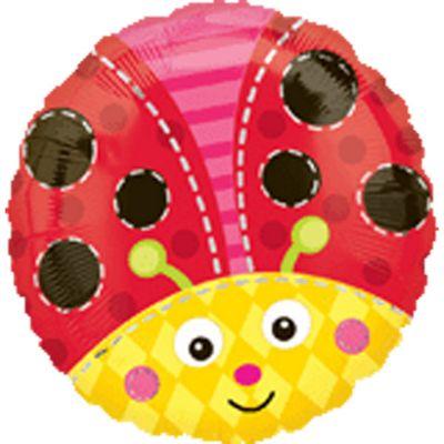Cute Ladybug Balloon - 18 inch Foil